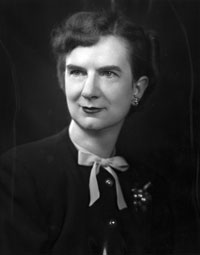 Pitt English Professor Emily G. Irvine. Photograph courtesy of University Archives, University of Pittsburgh