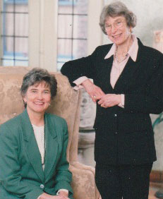"Elizabeth (Betty) Segel and Joan Friedberg, cofounders of the childhood literacy program ""Beginning with Books"""
